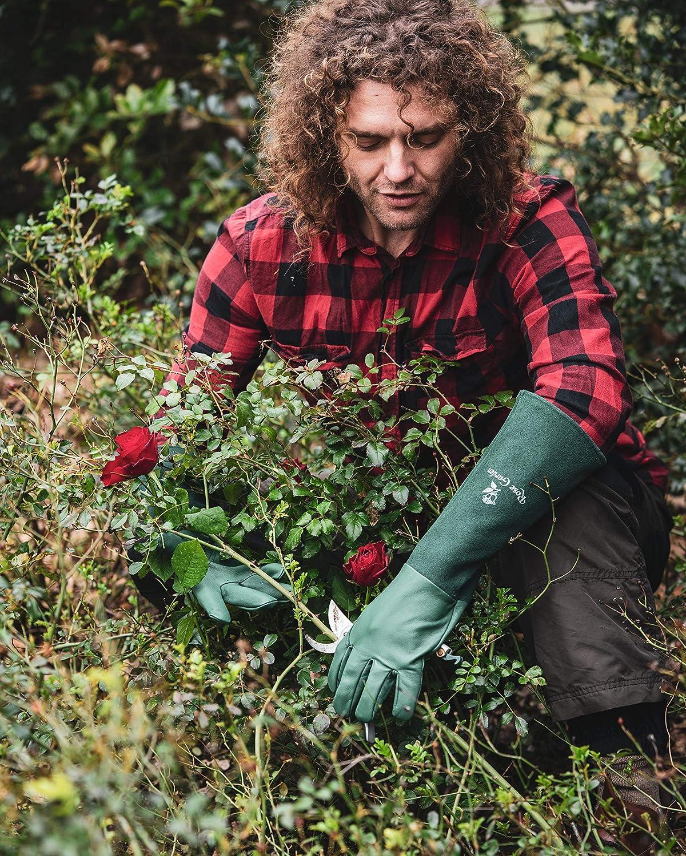 Taille 7 Vert S Gants de Jardinage et de Plantation en Cuir ACE Rose Garden Gants Rosier
