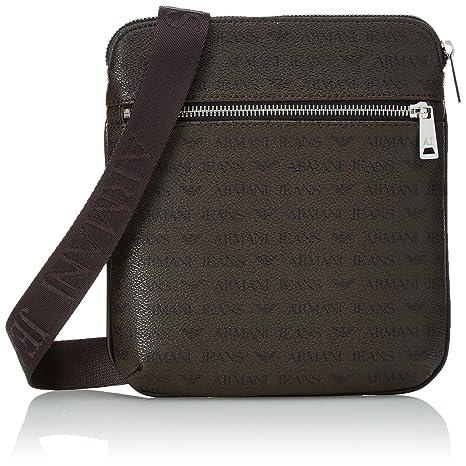 3c46e7207657 Armani Exchange Men s All Over Logo Pu Small Crossbody Bag