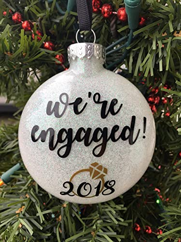 Image Unavailable - Amazon.com: Engagement Ornament, Engaged Ornament, Personalized