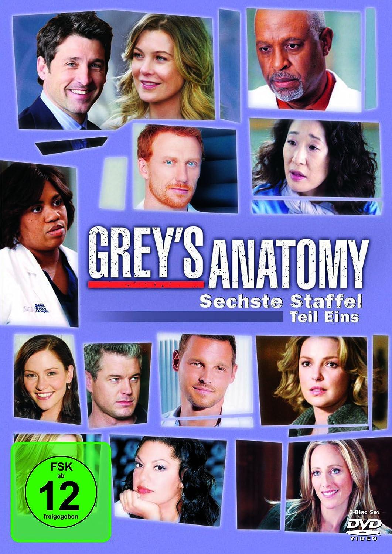 Grey\'s Anatomy: Die jungen Ärzte - Sechste Staffel, Teil Eins 3 DVDs ...