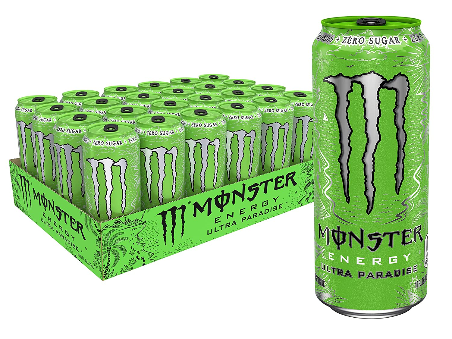 Ultra Paradise, Sugar Free Energy Drink, 16 oz (Pack of 24)