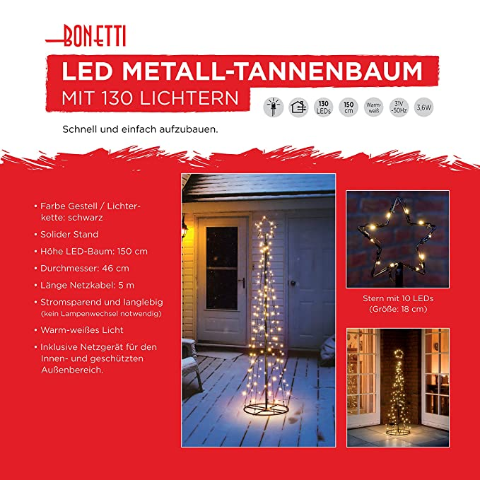 Tannenbaum Netzgerät.Amazon De Led Metall Tannenbaum Mit Warmweißen Led Beleuchtet