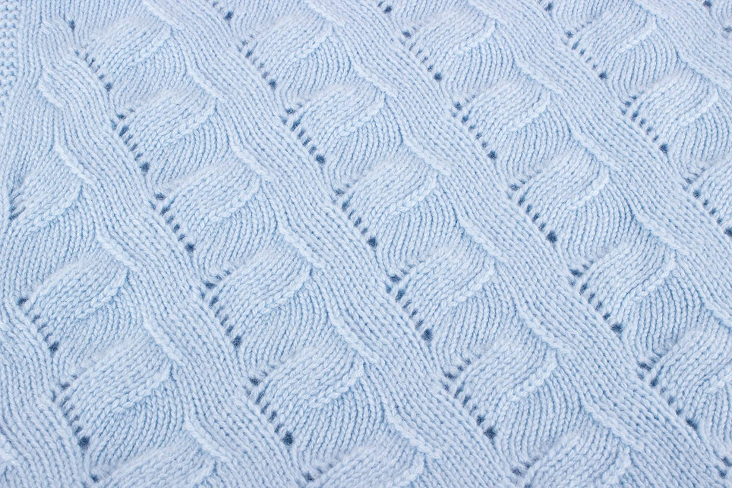 Boys Luxury 100/% Cashmere Baby Blanket hand made in Scotland by Love Cashmere RRP 160 Baby Blue
