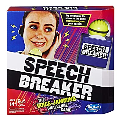 Speech Breaker Game Voice Jamming Challenge Microphone Headset Electronic Party Game Ages 14+: Toys & Games