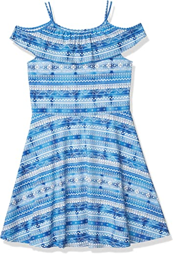 The Children's Place Girls' Cold Shoulder Printed Dress