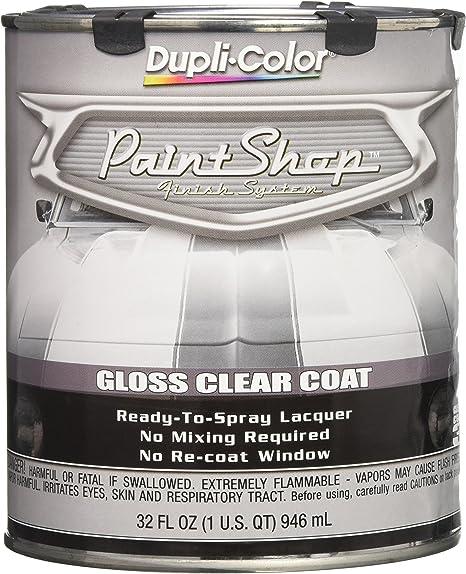 Dupli Color Ebsp30000 Clear Coat Paint Shop Finish System 32 Oz Clear Gloss