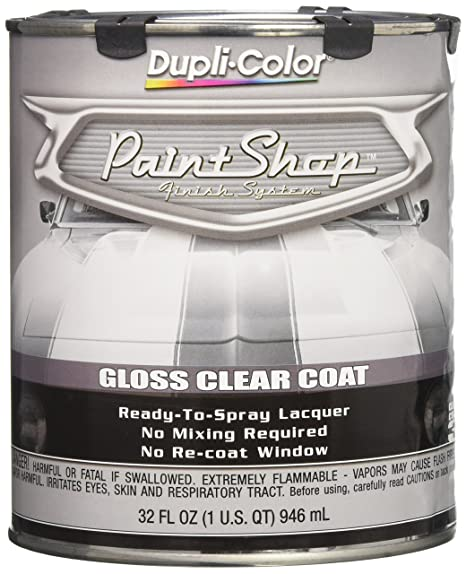 Dupli-Color EBSP30000 Clear Coat Paint Shop Finish System - 32 oz , Clear  Gloss