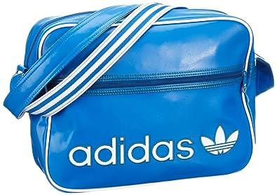adidas AC Airline Unisex Adult Shoulder Bag blue Blau (BLUEBIRD/DARK ROYAL  F12/
