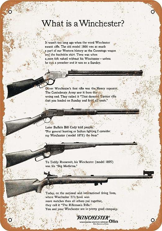 Antique Style Winchester Guns Cowboy Tin Gun Sign Retro Ad Home Wall Decor USA