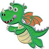PatchMommy Parche Bordado Dragon Parche Termoadhesivo - Parches y Apliques Infantiles