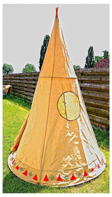 XXL Naturstoff Tipi Indianer-Zelt Zelt Spielzelt Kinder-Spielzelt Kinder-Zelt Tippy