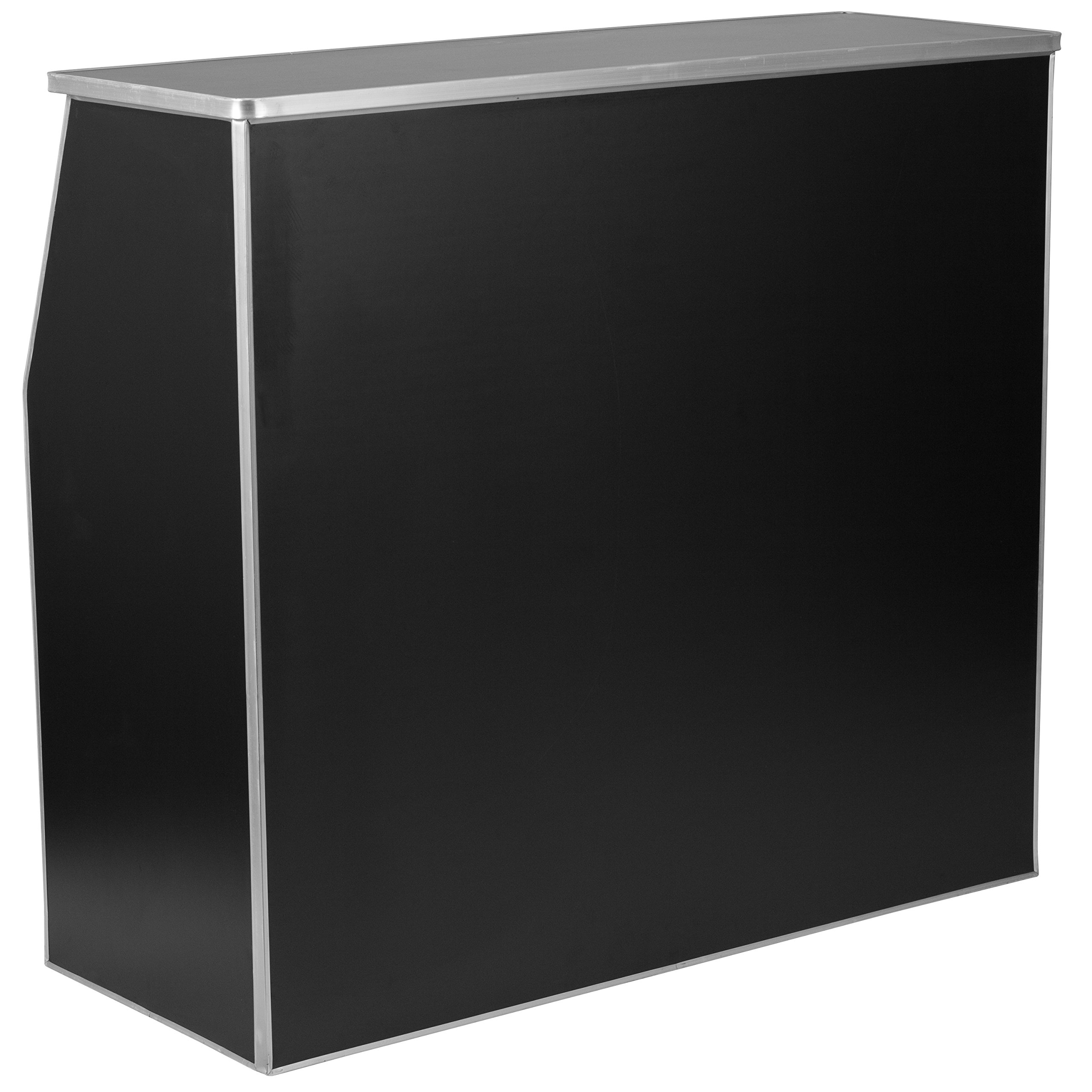Flash Furniture 4' Black Laminate Foldable Bar by Flash Furniture