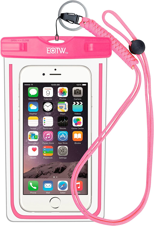 EOTW Funda Impermeable IPX8 Universal para Deportes acuaticos para iPhone 6/6S +, Samsung S6/Edge/S5/S4 hasta 6 Pulgadas.