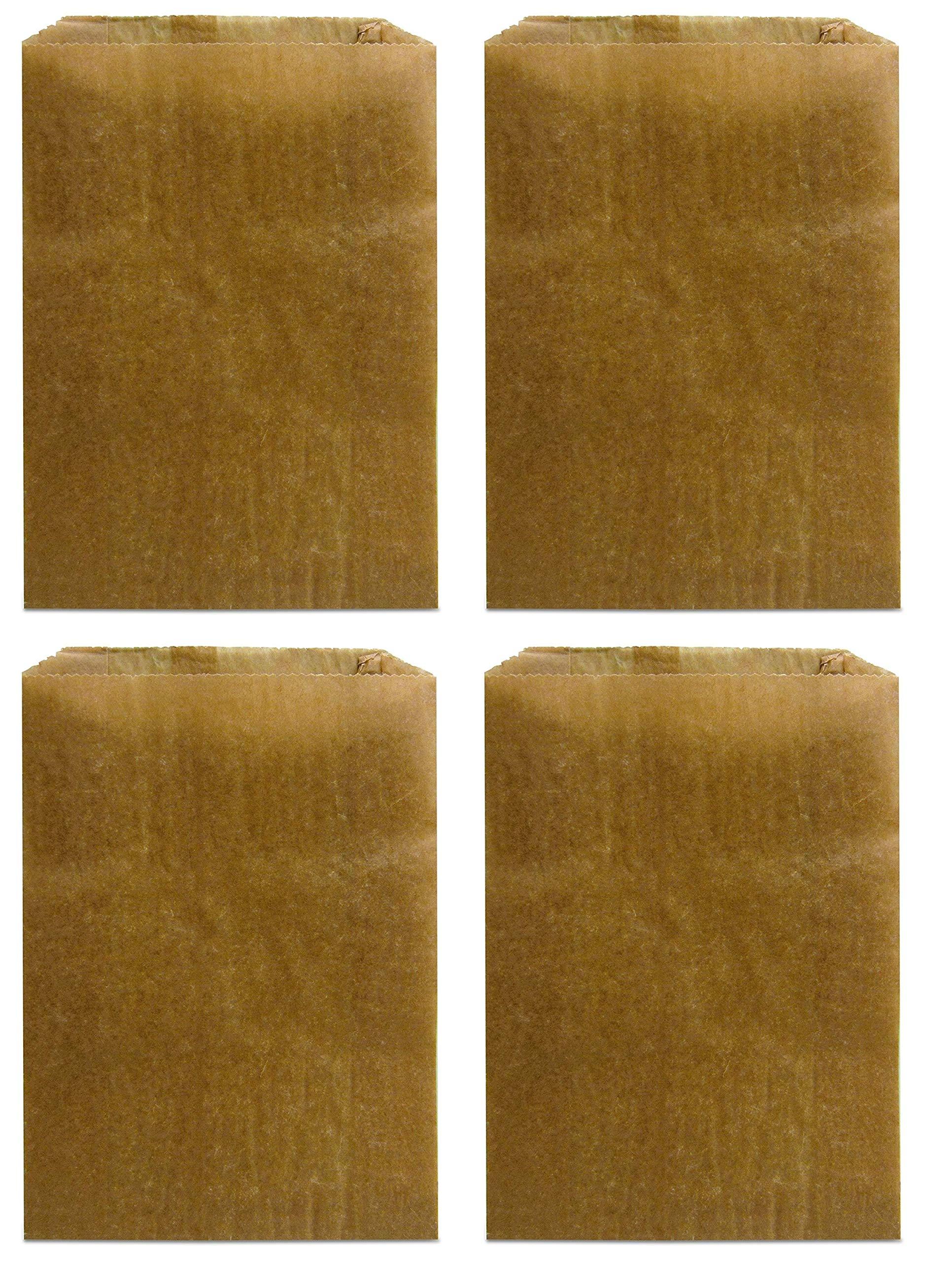 Hospeco KL Waxed Kraft Feminine Hygiene Liner Bag with Gusset (Case of 500), 10.25'' x 7.5'' x 3.5... (Fоur Расk)