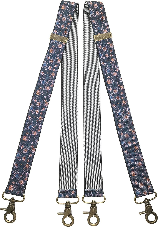 QCWQMYL Mens Suspenders Vintage Bronze Swivel Snap Hooks Adjustable Braces Party