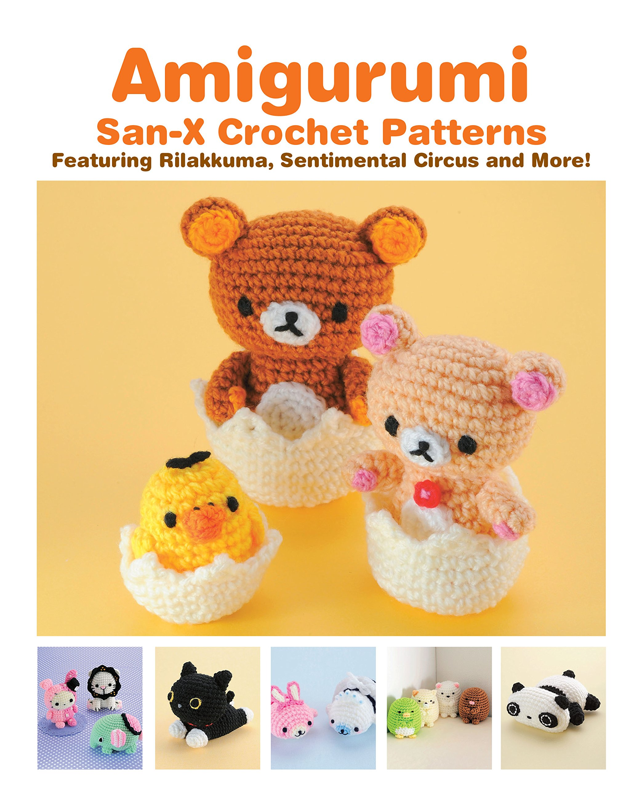 Amigurumi San X Crochet Patterns Featuring Rilakkuma Sentimental