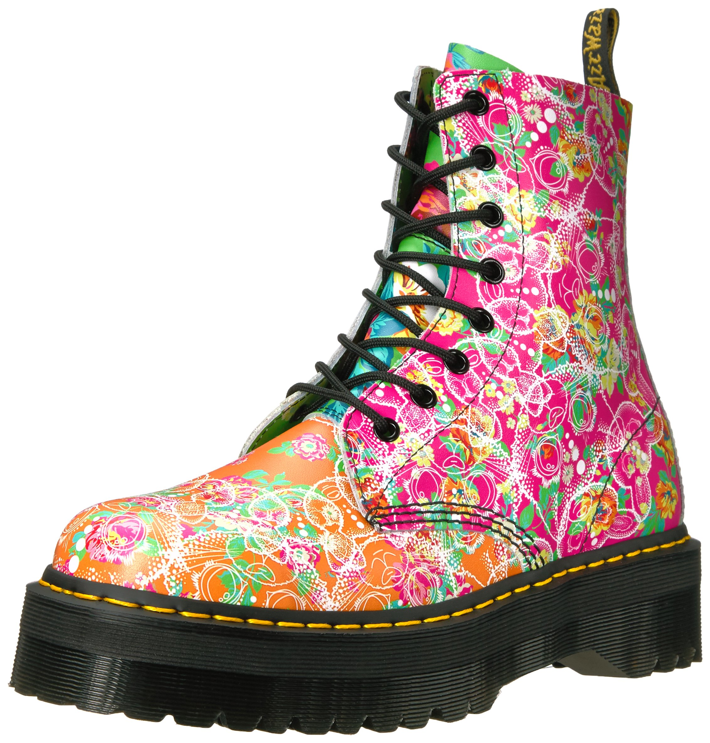 Dr. Martens Women's Jadon Daze Fashion Boot, Multi Daze, 6 Medium UK (8 US) by Dr. Martens
