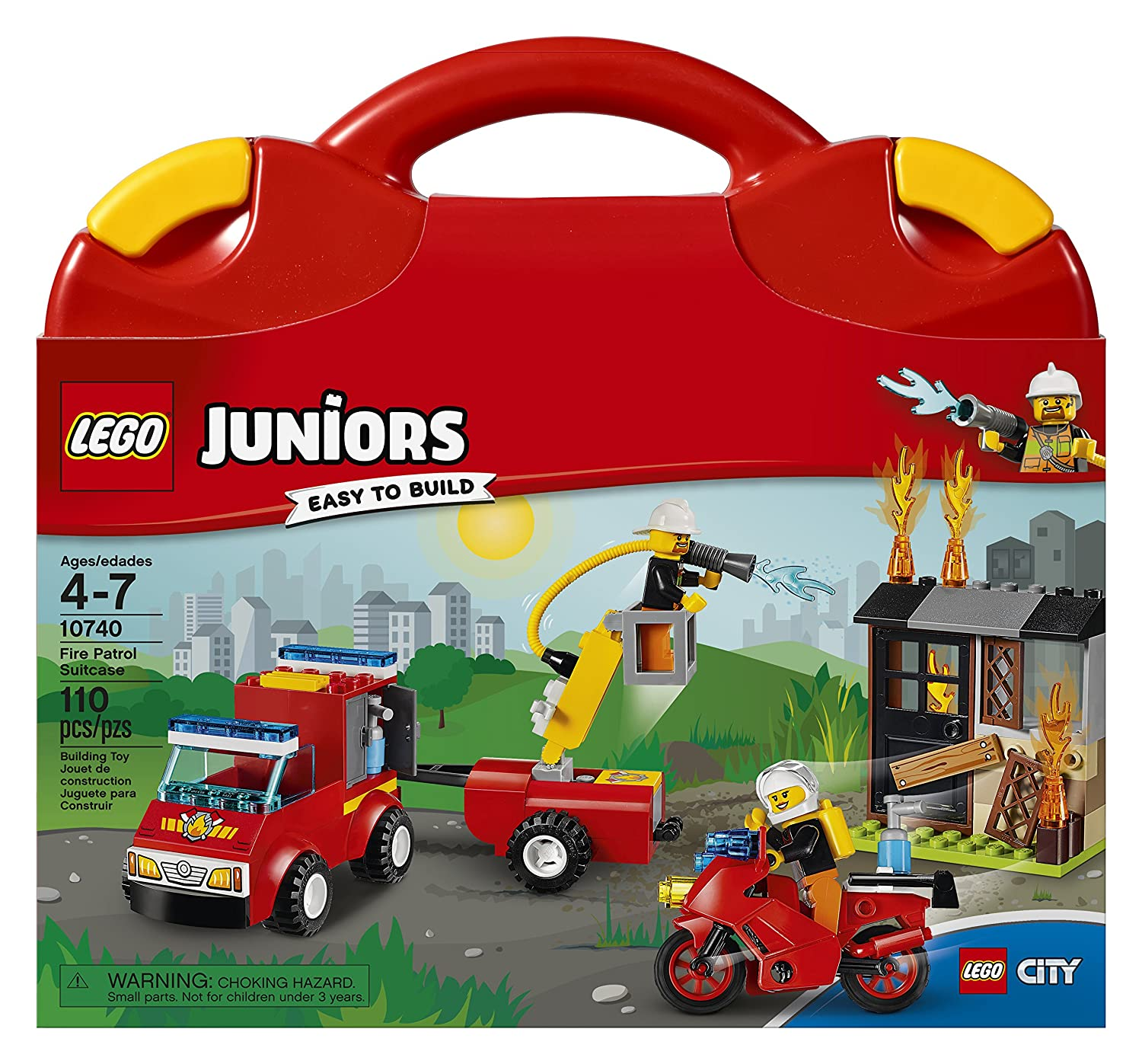Amazon LEGO Juniors Fire Patrol Suitcase Toy for 4 7
