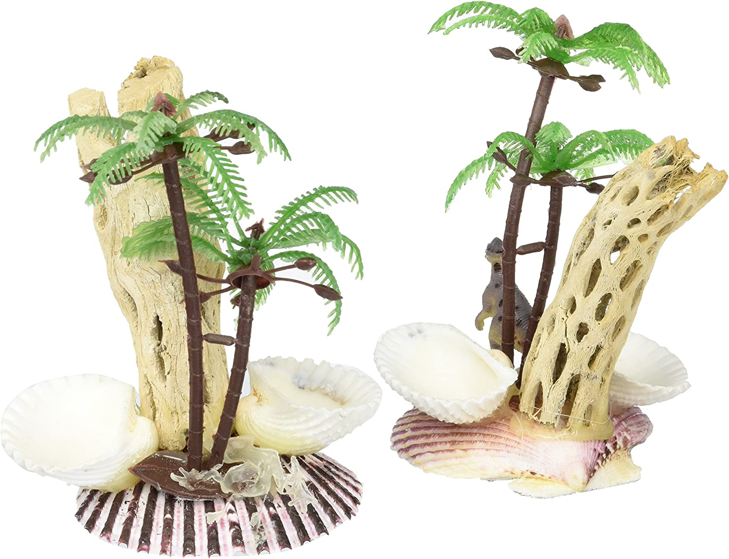 Florida Marine Research SFM31305 2-Pack Ornament Small Animal Food and Water Shell Dish, Medium