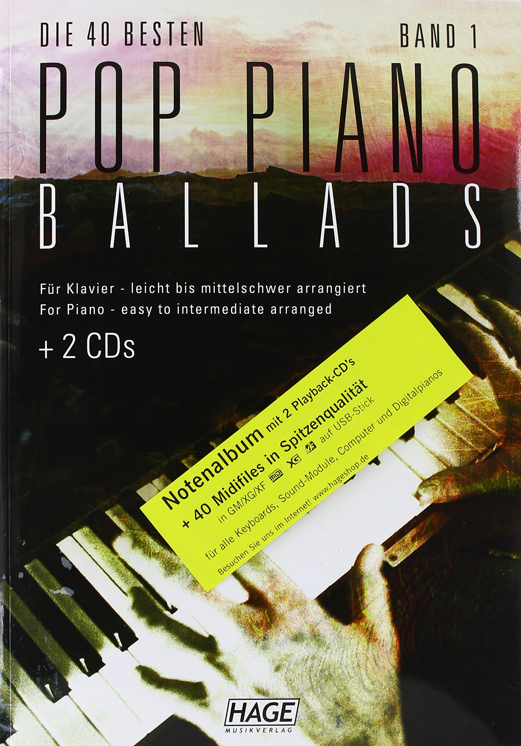 Pop Piano Ballads 1 (mit CD + Midifiles, USB-Stick): 9783866261525
