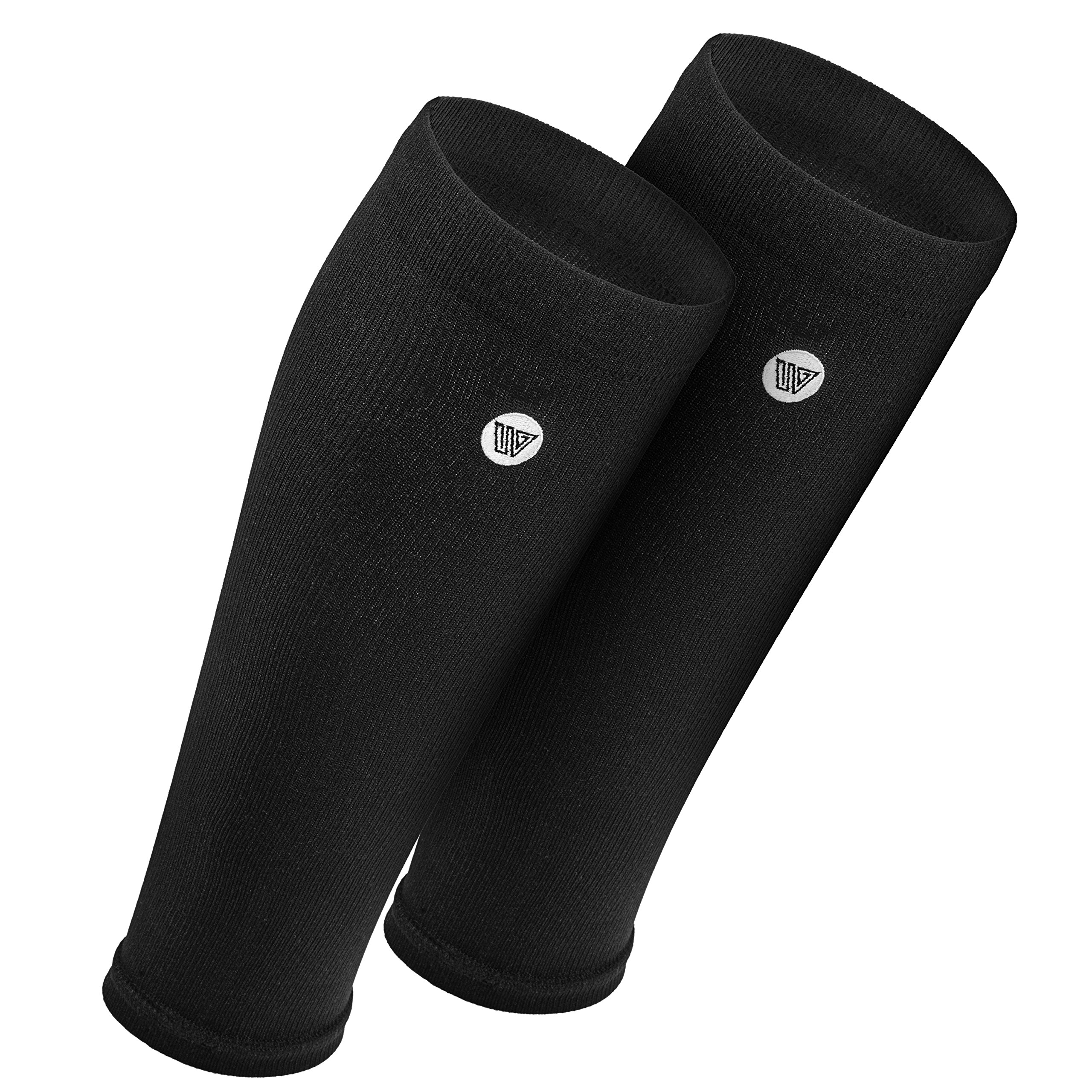 Wanderlust Calf Compression Sleeves for Men & Women - Leg and Calves Footless Support Socks for Shin Splints, Running, Basketball, Football - Best for Circulation & Recovery!