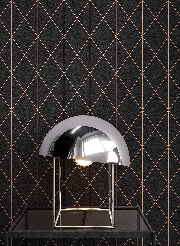 Tapezier Ratgeber ǀ Grafik NEWROOM Tapete grafisch gr/ün Muster Tapeten der 50er Art Deco Vliestapete Vlies Tapete Luxus Modern Glamour inkl