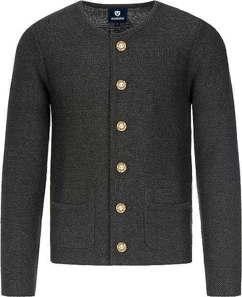 Almbock Strickjacke Herren Cardigan für Männer in schwarz anthrazit, braun, grau Trachten Strickjacke Größen S, M, L, XL, XXL, XXXL