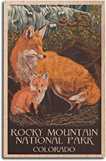 product image for Rocky Mountain National Park, Colorado - Fox and Kit - Letterpress (10x15 Wood Wall Sign, Wall Decor Ready to Hang)