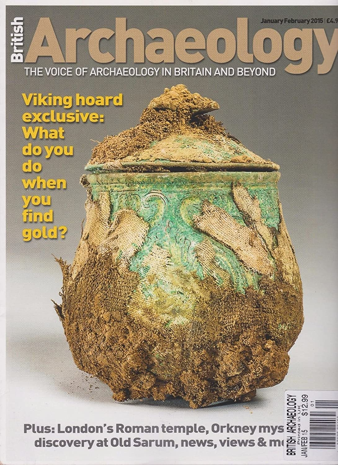 BRITISH ARCHAEOLOGY MAGAZINE JAN/FEB 2015, THE VOICE OF ARCHAEOLOGY IN BRITAIN.
