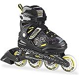 Bladerunner - Twist Junior Adjustable Skate - 4 Sizesper Skate - Black - 5 to 8, 4 Size Adjustable US 5 to 8