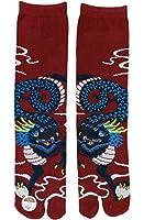 Tabi Ninja/ Tabi Chaussettes authentiques Japonaises (EU 40- 43, Dragon)