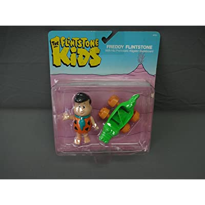 Flintstone Kids Freddy Action Figure w Prehistoric Alligator Skateboard Coleco: Toys & Games