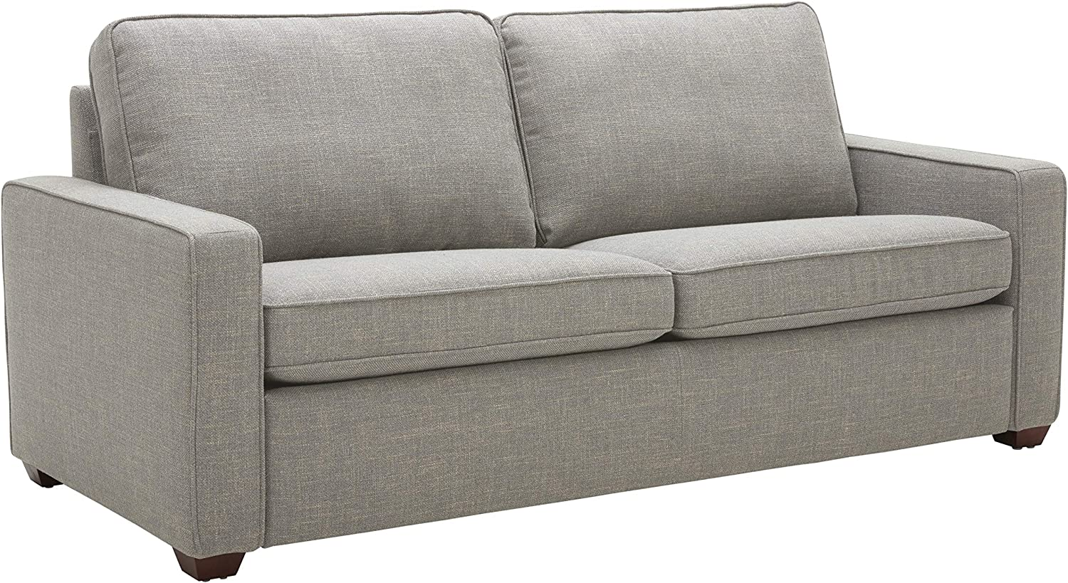 """Rivet Andrews Contemporary Sofa with Removable Cushions, 82""""W, Light Grey"""