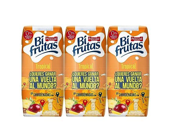 Bifrutas - Tropical - Bebida refrescante con leche y zumo de frutas - 3 x 330 ml: Amazon.es: Alimentación y bebidas