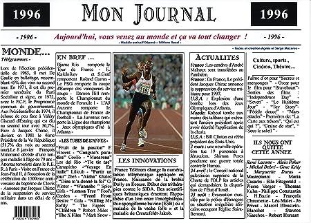Ann/ée de Naissance ou Anniversaire G/én/érique Set de Table ann/ée 1967 plastifi/é Id/éal pour Cadeau Mon Journal