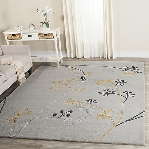 Safavieh Soho Collection Handmade Grey Premium Wool Area Rug 7'6″ x 9'6″