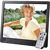 "Intenso 8"" Media Artist 8"" Black digital photo frame - digital photo frames (20.3 cm (8""), 800 x 600 pixels, TFT-LCD, 400:1, 4:3, 16:9, JPG)"