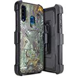 for Samsung Galaxy A20S Holster case Heavy Duty Hard Shockproof Heavy Duty Protector Shield Case Cover with Built in…