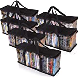 Besti Premium Quality Home DVD Storage Bags (6-Pack) Holds 240 Total Movies or Video Games, Blu-ray, | Convenient Travel Case for Media | Stackable, Easy to Carry