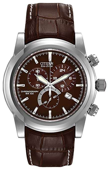 9d19407fad2 Citizen Men's Eco-Drive Chronograph Stainless Watch #AT0550-11X:  Amazon.co.uk: Watches