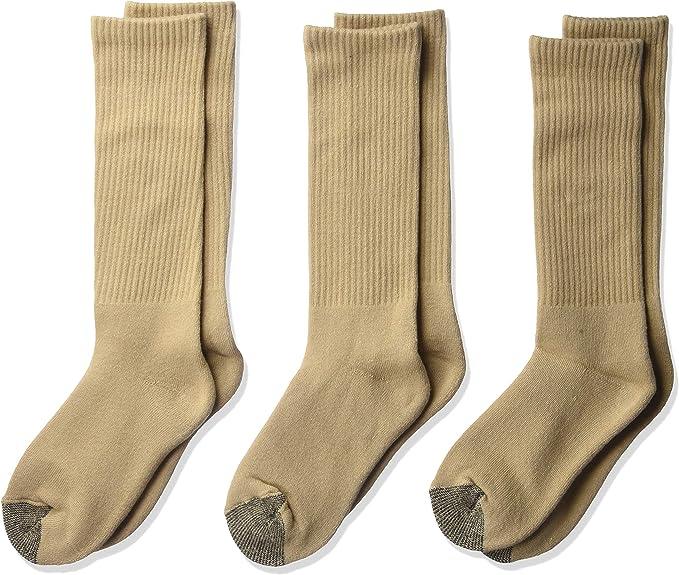 YolBer Boys Cotton Super Soft Crew Cushion Socks 3 Pairs