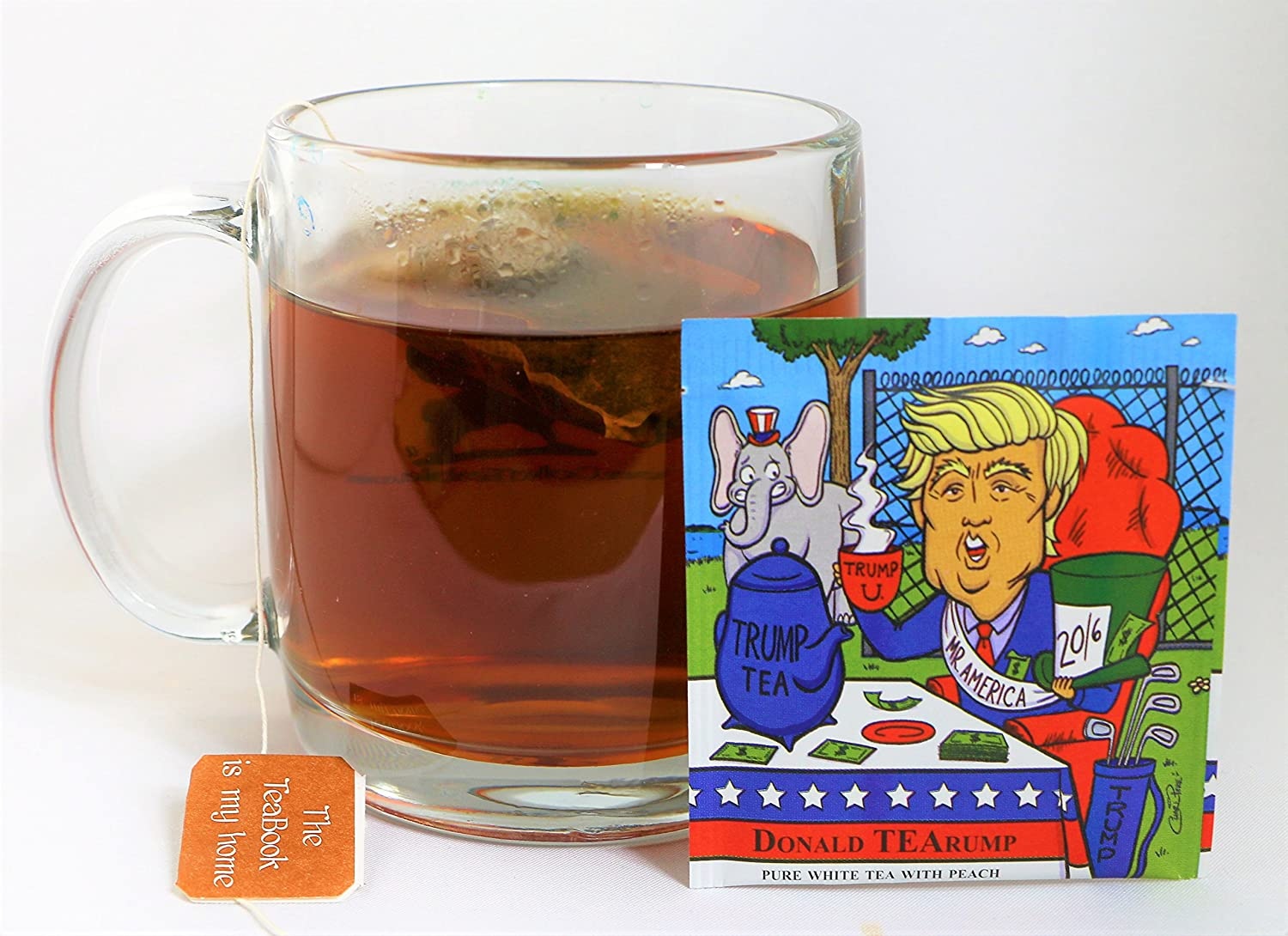 Amazon.com : Donald TEArump Organic Pure White Tea with Peach (Donald Trump) (20 Tea bags) : Grocery & Gourmet Food