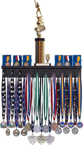 Amazon Com Premier 2ft Award Medal Display Rack And Trophy Shelf Sports Outdoors