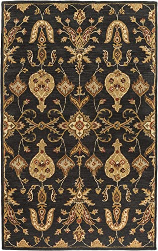 Artistic Weavers AWHR-2048 Middleton Grace Area Rug, 6-Feet, Black