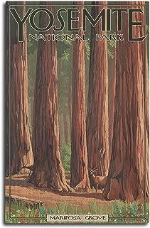 product image for Lantern Press Yosemite National Park, California - Mariposa Grove (10x15 Wood Wall Sign, Wall Decor Ready to Hang)