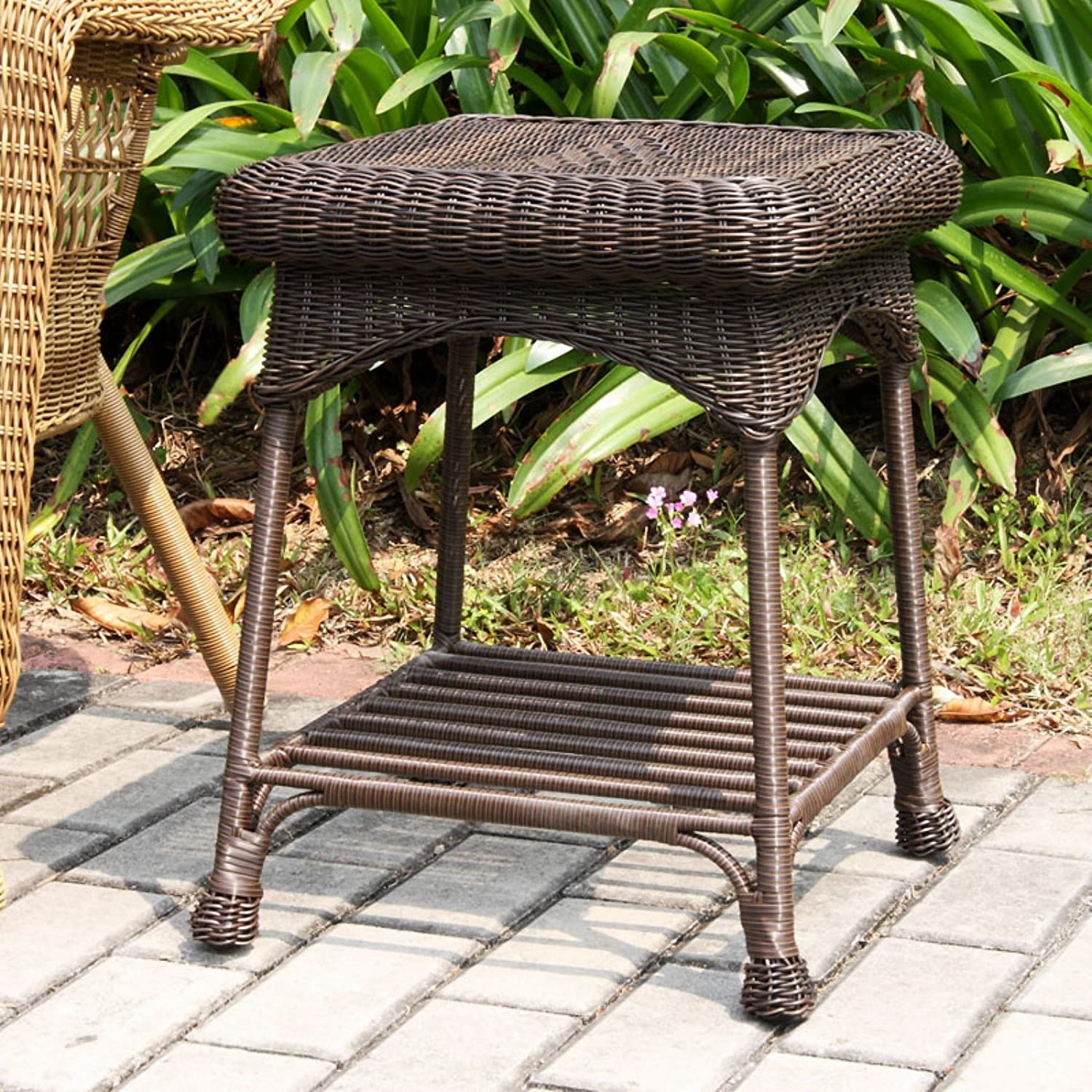 Amazon Wicker Lane OTI001 D Outdoor Black Wicker Patio