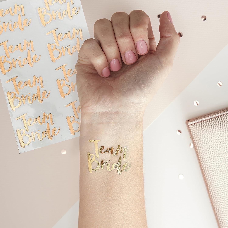Team Bride Tattoos - Rose Gold: Amazon.es: Juguetes y juegos