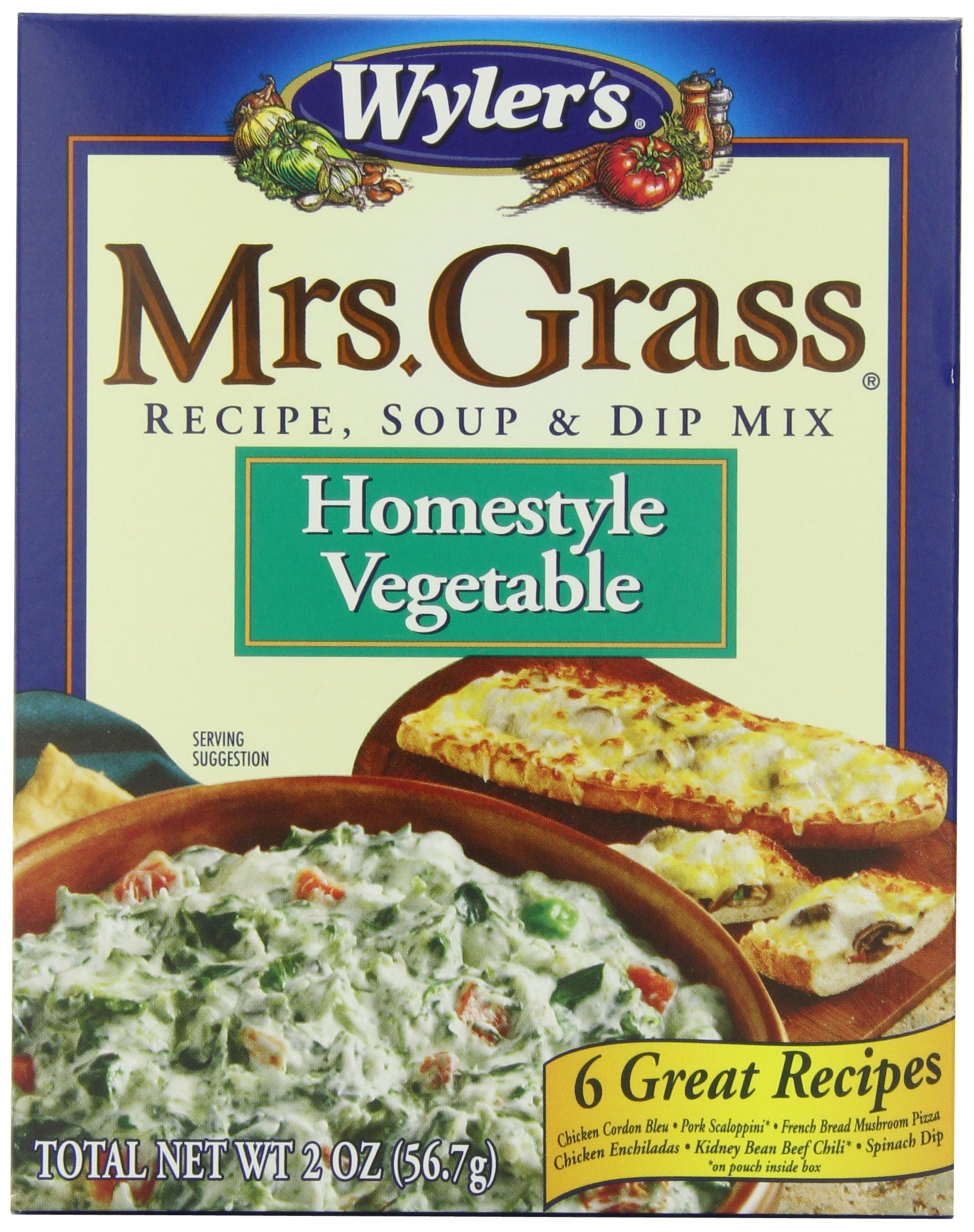 Amazon mrs grass recipe soup dip mix onion 2 ounce pack mrs grass recipe soup dip mix homestyle vegetable 2 ounce pack forumfinder Choice Image