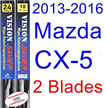 Amazon.com: 2013-2016 Mazda CX-5 Replacement Wiper Blade Set/Kit (Set of 2 Blades) (Saver Automotive Products-Vision Saver) (2014,2015): Automotive