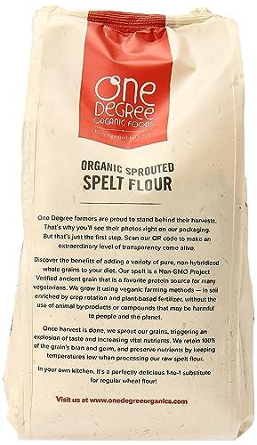 Un grado Organics brotado orgánicos espelta Harina, 32 oz ...